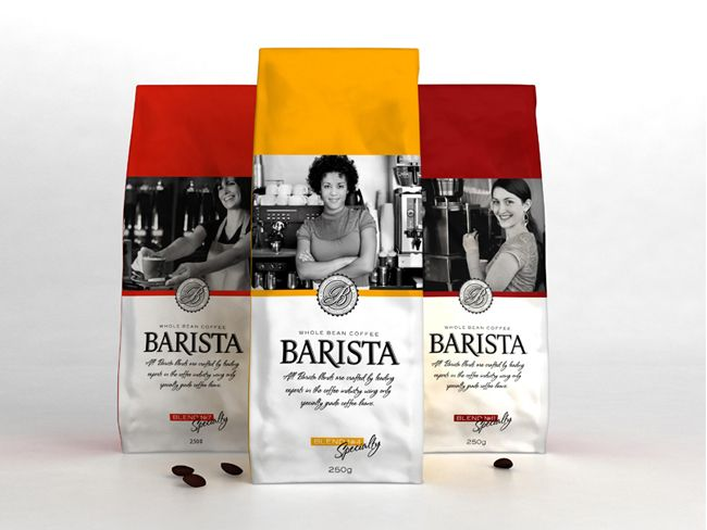 Barista coffee on Packaging of the World - Creative Package Design Gallery