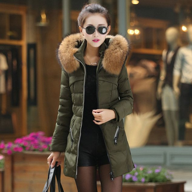 Images of Womens Parka Coat - Reikian