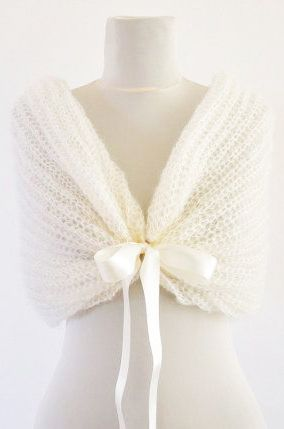 Ivory Bridal Cape Wedding Wrap Bridal Shrug by reflectionsbyds