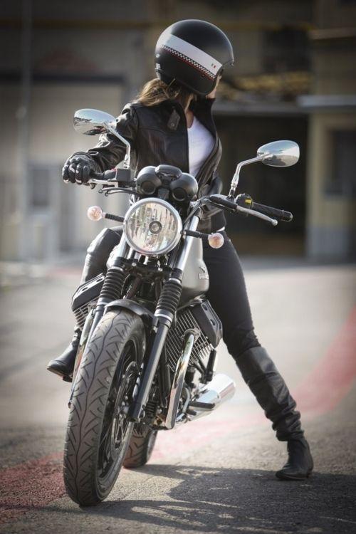 Girl in Motorcycle