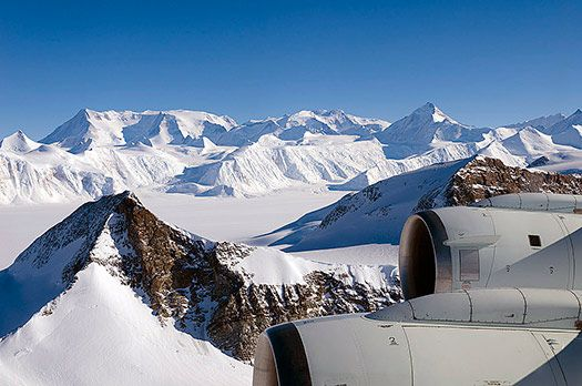 A view of Vinson Massif, Antarctica. One of the Seven Summits.