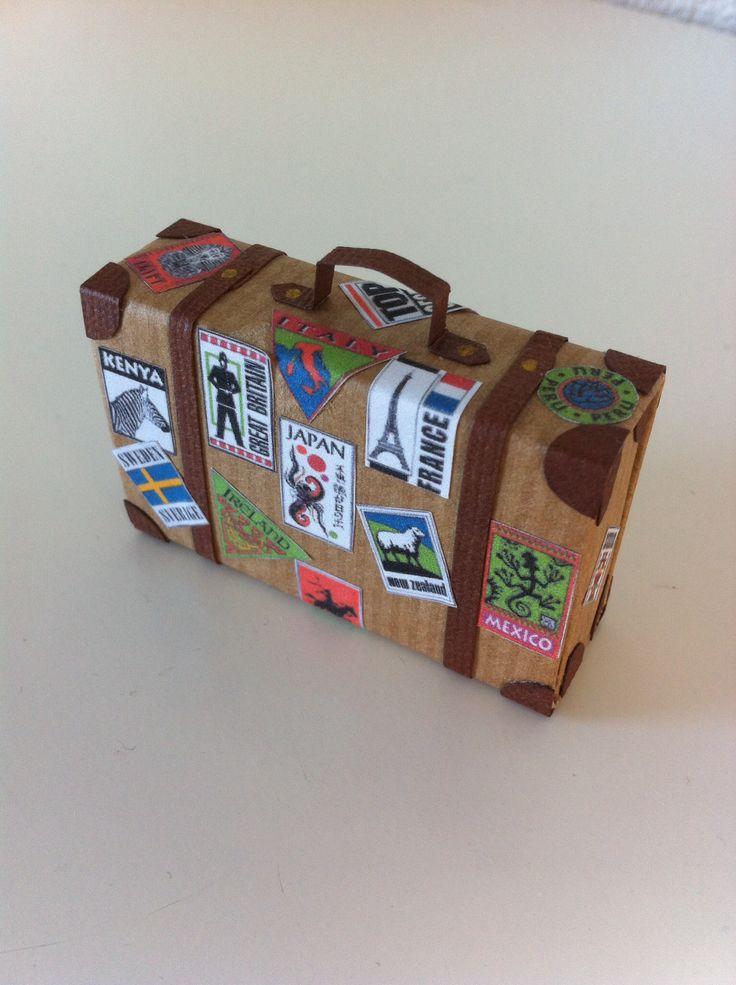 Tändstickresväska, present till dotter som fått en resa i födelsedagspresent.