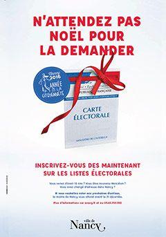Ville de Nancy- inscription sur les listes électorales