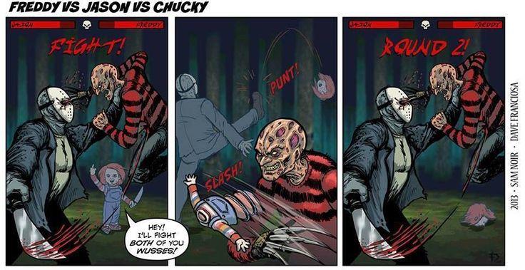 Jason vs Fredy vs chucky | Scary movies | Pinterest ...  Freddy Krueger Vs Jason Vs Chucky Vs Scream Vs Michael