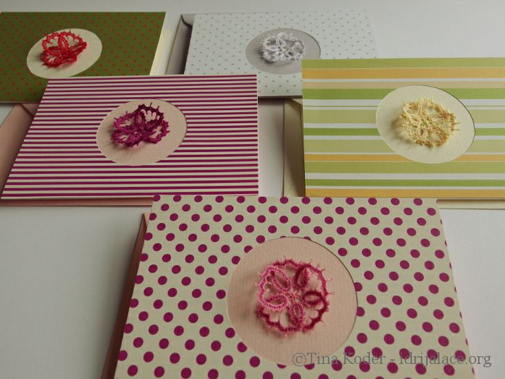 Mother's day cards with Idrija lace