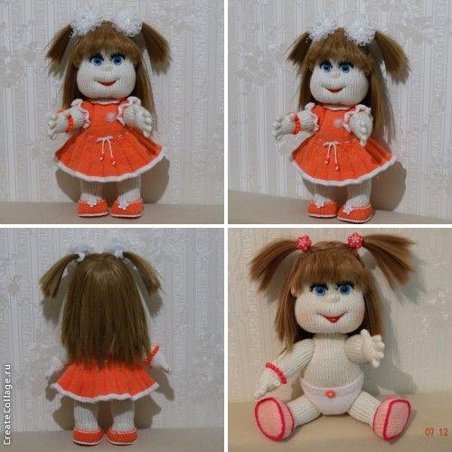 куклы вязаные спицами