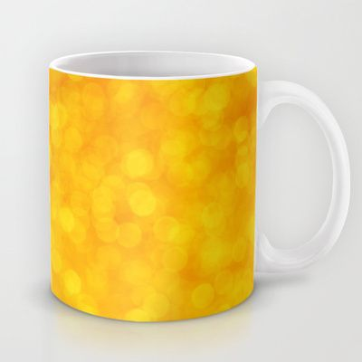 Blurry Golden Background Mug by TilenHrovatic - $15.00