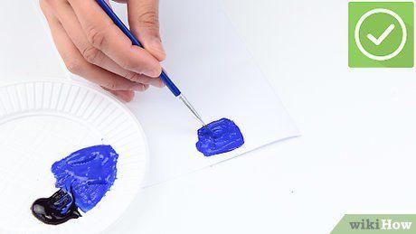 Comment obtenir du bleu foncé en mélangeant plusieurs couleurs en 2020   Peinture bleu nuit ...