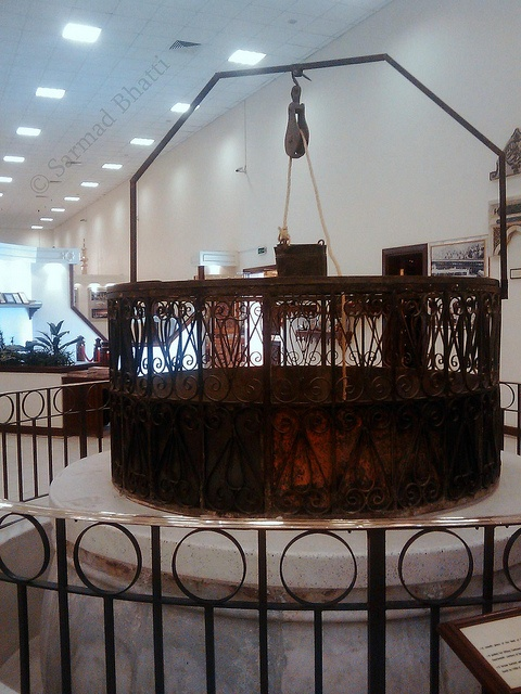 The old railing of the ZamZam well.