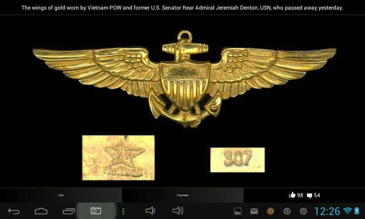 Wings of a NAVY HERO R.I. P. SIR