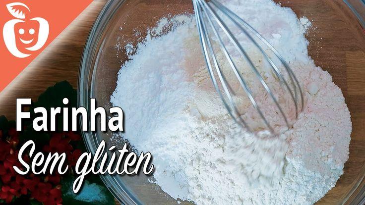 Como preparar um mix de farinhas sem glúten (substitui o trigo)
