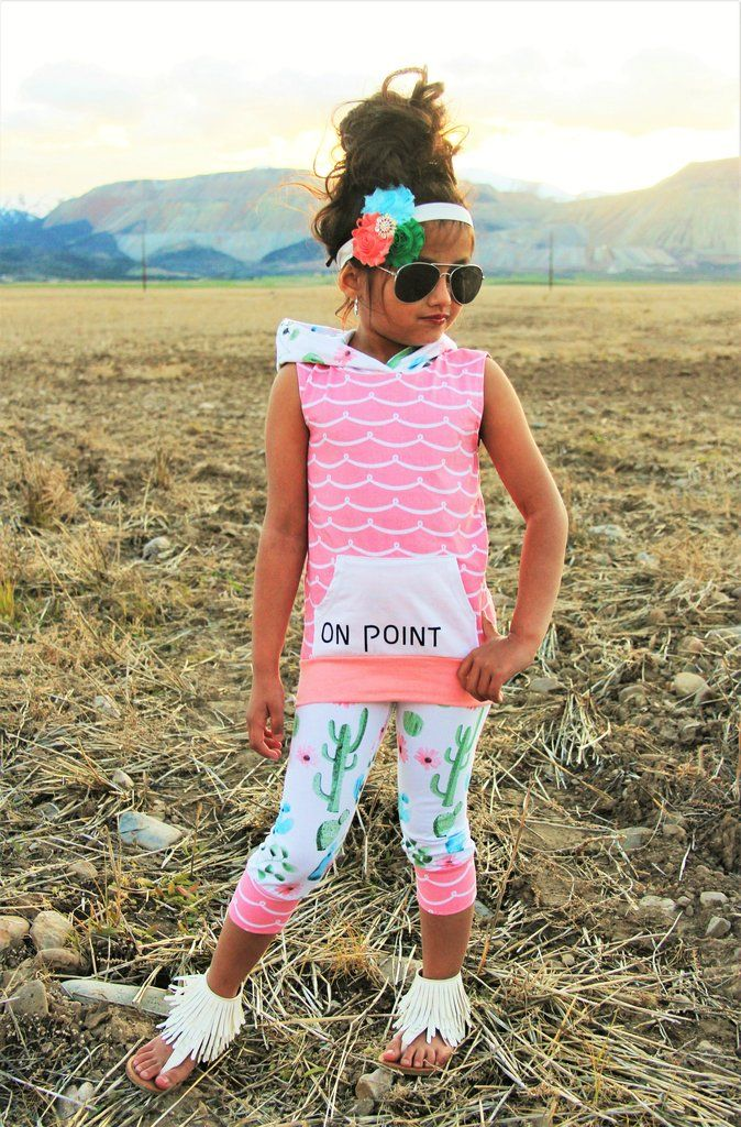"""Cactus """"On Point"""" Hoodie Tank Top Set #boutique-outfits #clearance #daily-deal #daily-deals #new #newborn-clothing #perfect-sets #spring-line"""