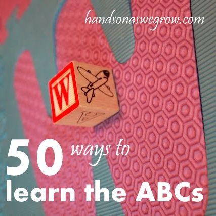 50 Alphabet Activities for Preschoolers