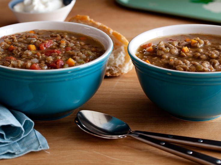 Lentil Soup recipe from Alton Brown via Food Network