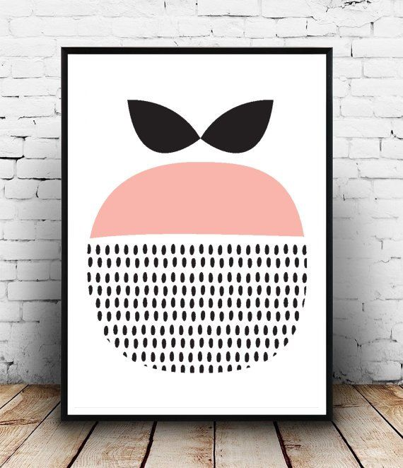 Printable Art, Scandinavian Art, Apple, Home Decor, Wall Art, Instant download, Wall decor Print out on your own computer instantly,or take it