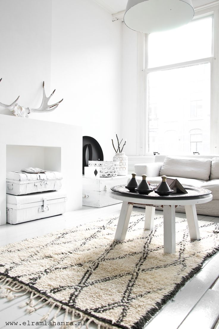 living room - white with black accent