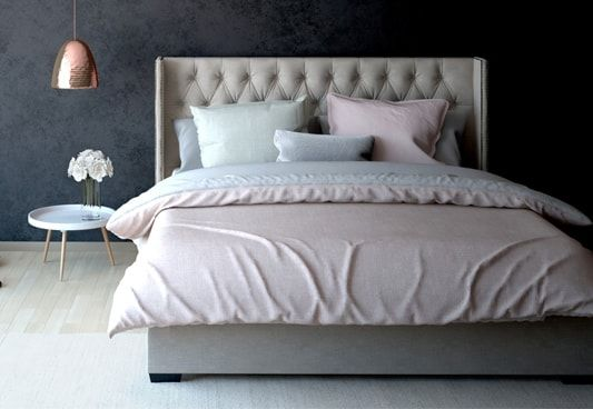 The Drewno Hydraulic Upholstered Bed with Storage available in king size with pleasing shade of ivory nude make a perfect combination of #upholstered and #hydraulic bed. This way you get gorgeous ambience, wonderful #comfort and sufficient #storage space from a single bedstead, #shop #online in #Hyderabad #Bangalore #Lucknow