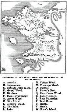 "Map of ""New Switzerland"" - The Swiss Family Robinson - Wikipedia, the free encyclopedia"