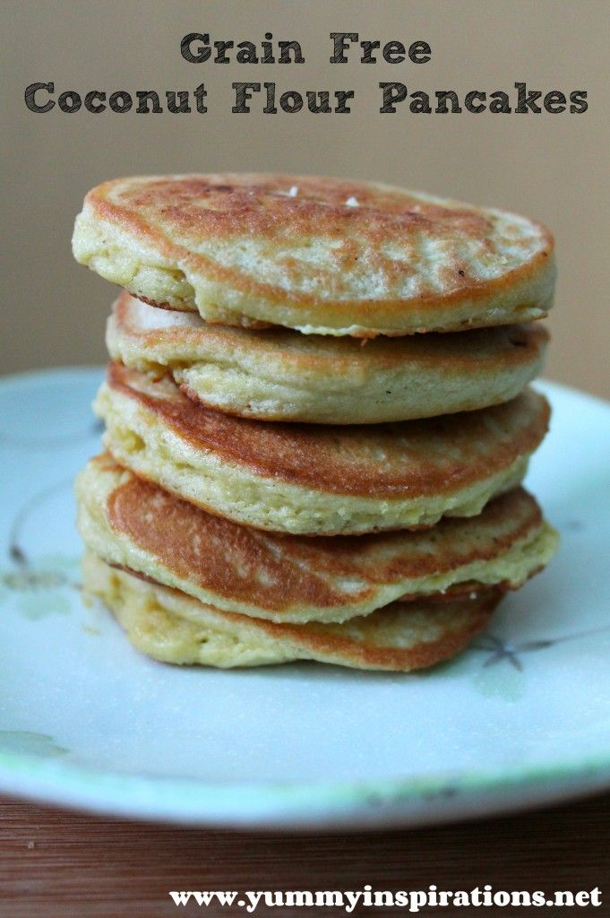 Grain Free Coconut Flour Pancakes - 4 Eggs (beaten), 3 T Coconut Flour, Coconut Oil (for frying)