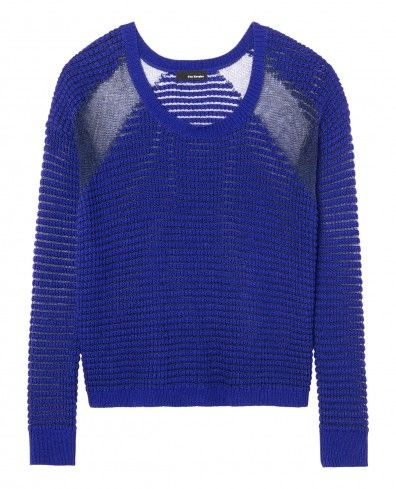 Jumper in decorative knit with metallic thread insets - Woman - New Collection - The Kooples