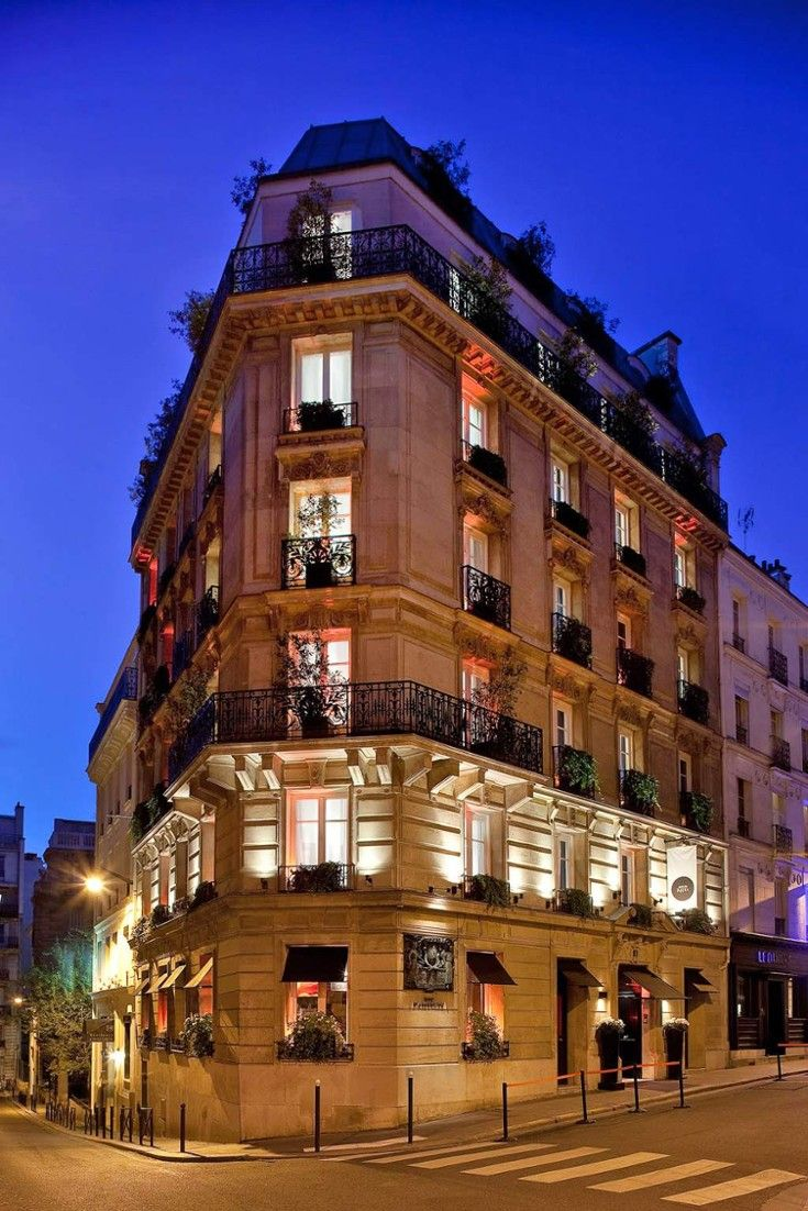 From the street, the Mon Hôtel appears to be a stately Parisian townhouse. #Jetsetter