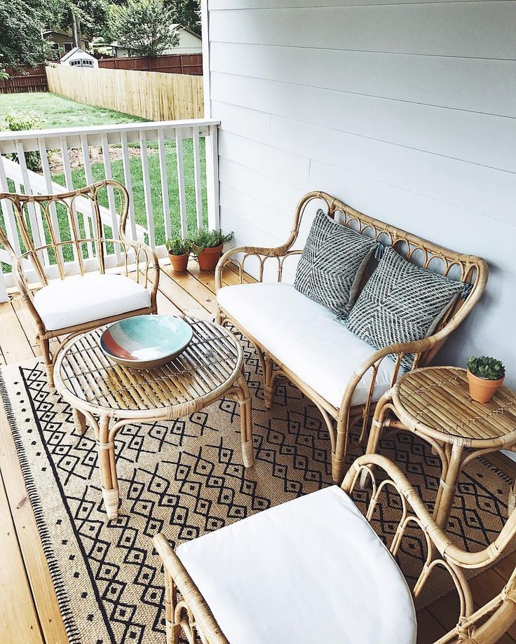 мебель из ротанга на лоджии фото стилистическое сходство