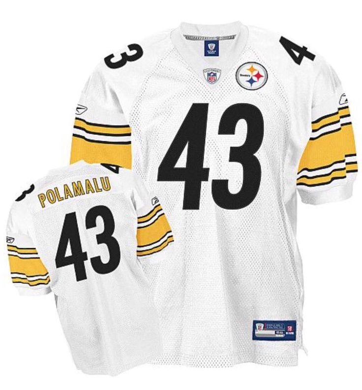... Womens Jersey Pittsburgh Steelers Troy Polamalu 43 Reebok AUTHENTIC  (54) Sewn Game Jersey ... 0f23bf734