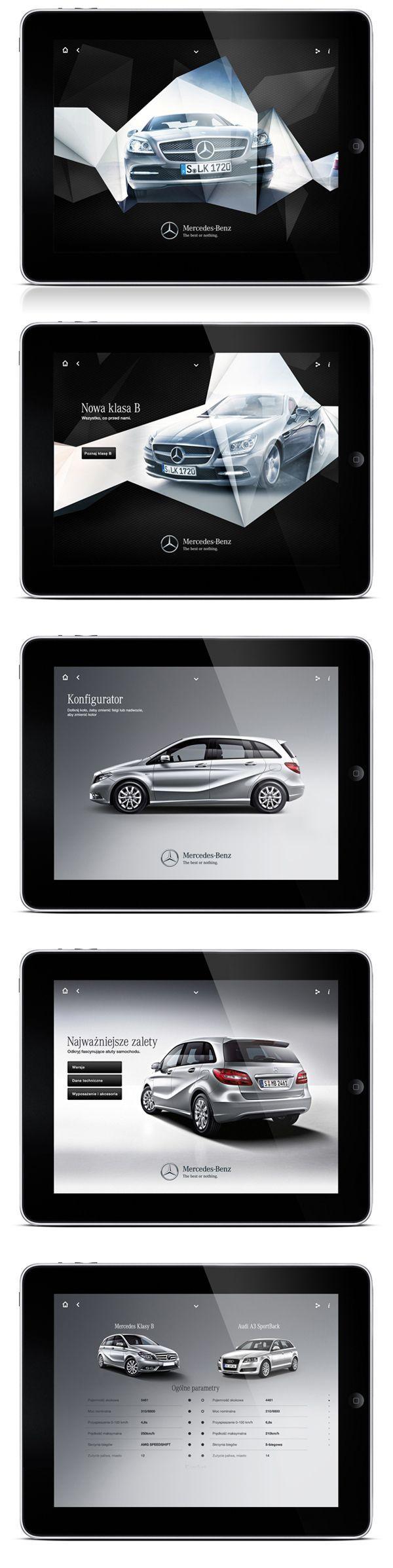 Mercedes iPad app ui design by maciej mach http://www.behance.net/maciejmach