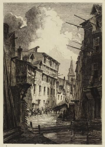 La Bièvre près de Saint-Médard, entre les rues Mouffetard et Pascal.   Paris Musées