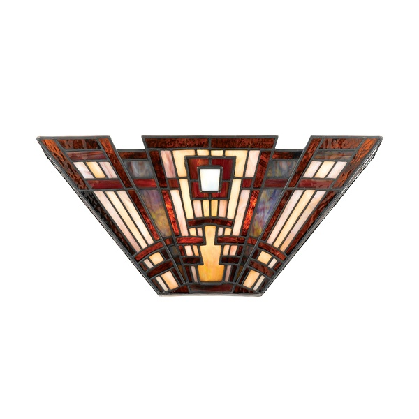 Craftsman style wall sconce.  Like.