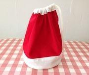 サンタ帽子の巾着☆コップ袋にもの作り方