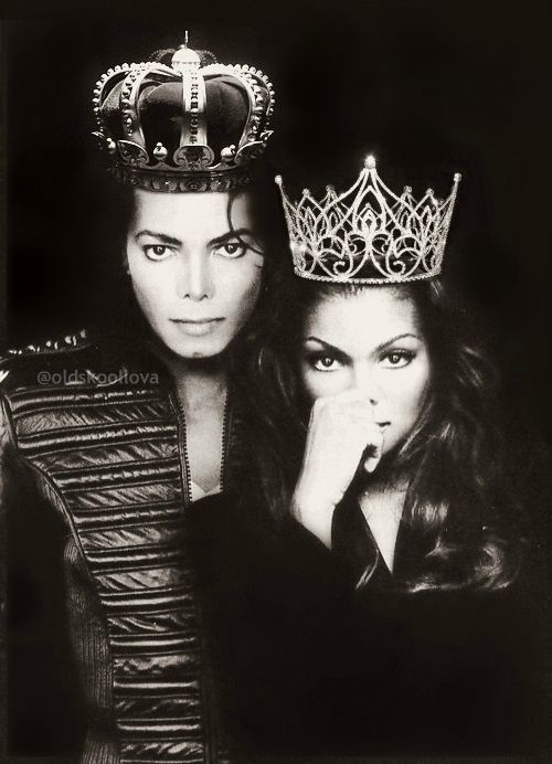 Michael & Janet Jackson. Royal Siblings.