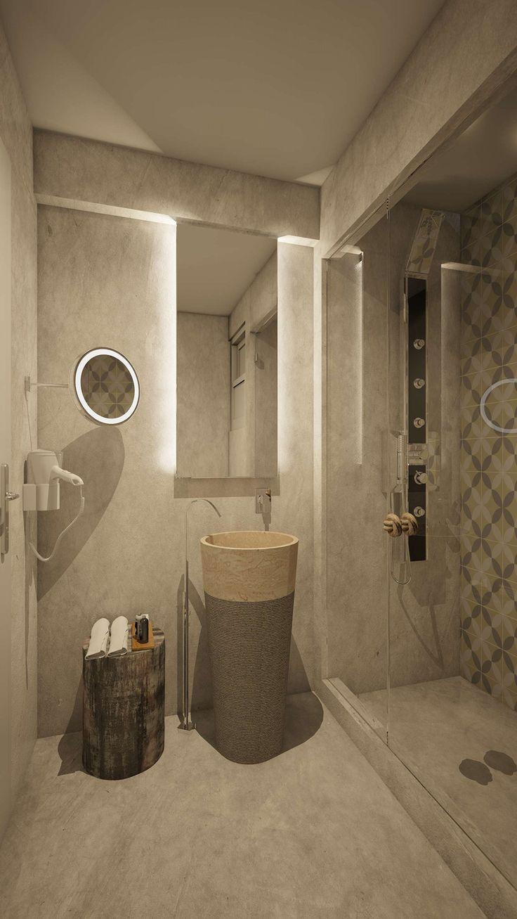 Aspalathos Junior Suite  Bathroom, Elakati Luxury Boutique Hotel, Rhodes , Greece