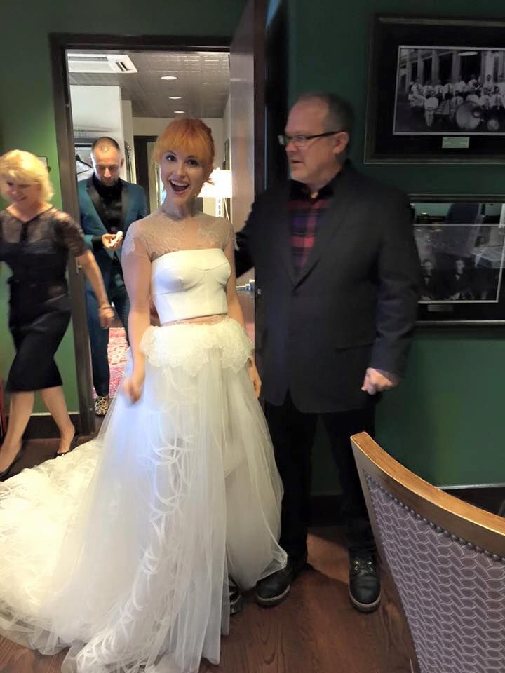 hayley williams in her wedding dress hayley williams