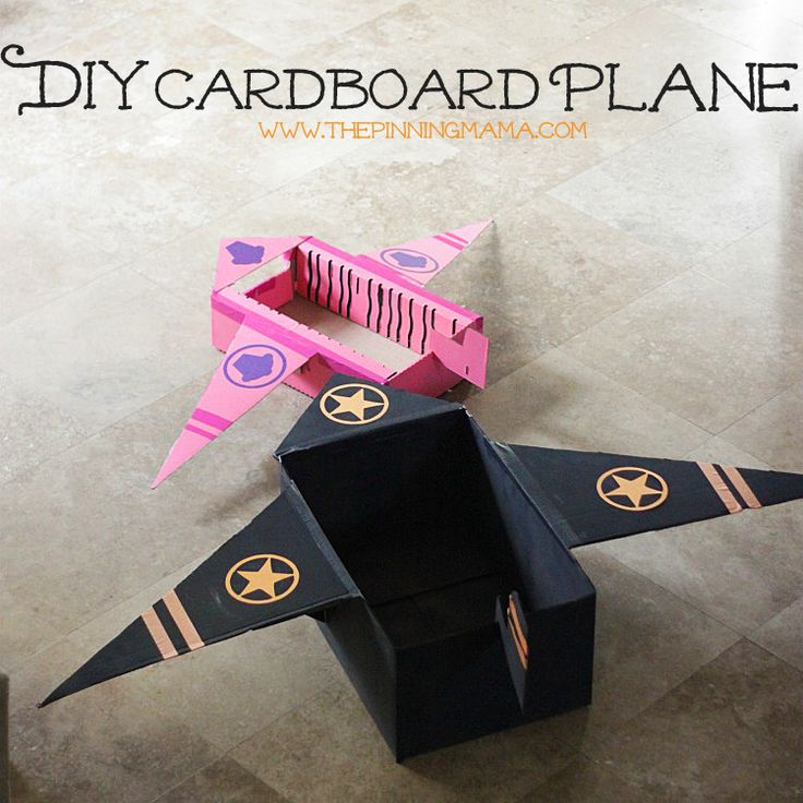 DIY Cardboard Plane made from upcycled cardboard boxes #shop