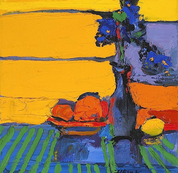 bofransson:    Henrietta Berk (American 1919-1993) Irises and Oranges