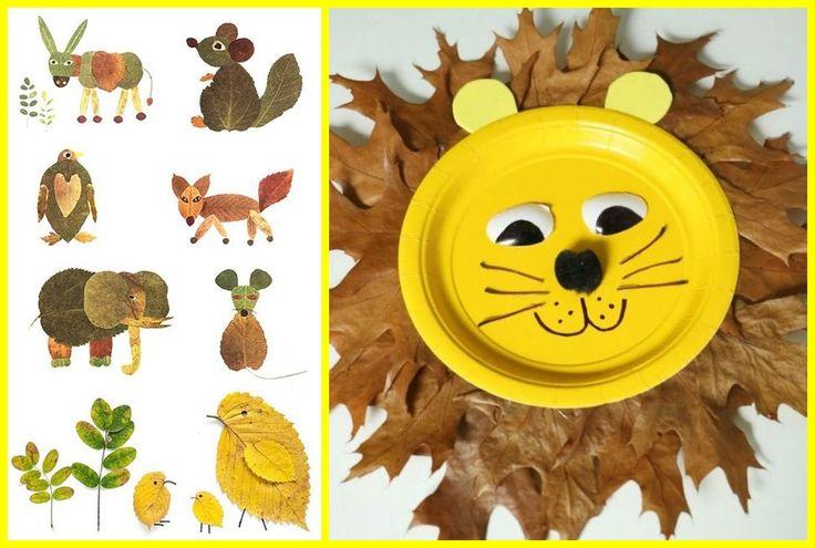 13+pestrobarevných+nápadů+na+dětské+tvoření+z+listů