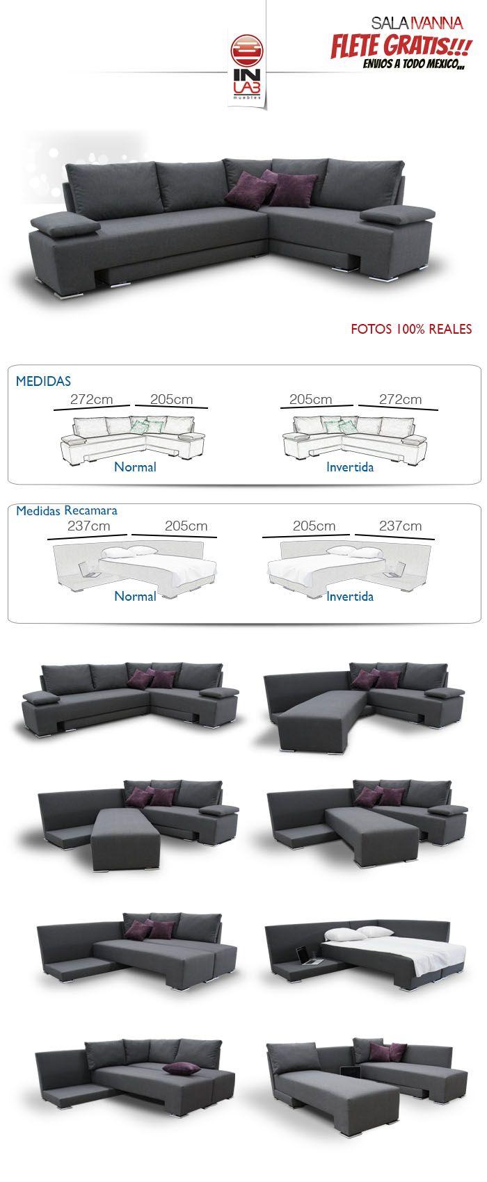 Sala Ivanna Recamara De Inlab Muebles Sofas Camas Armala - $ 6,990.00
