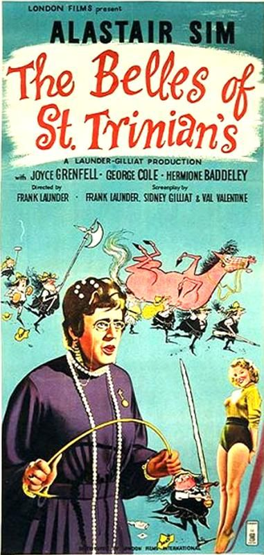 'The Bells of St Trinian's' starring Alastair Sim in 1954