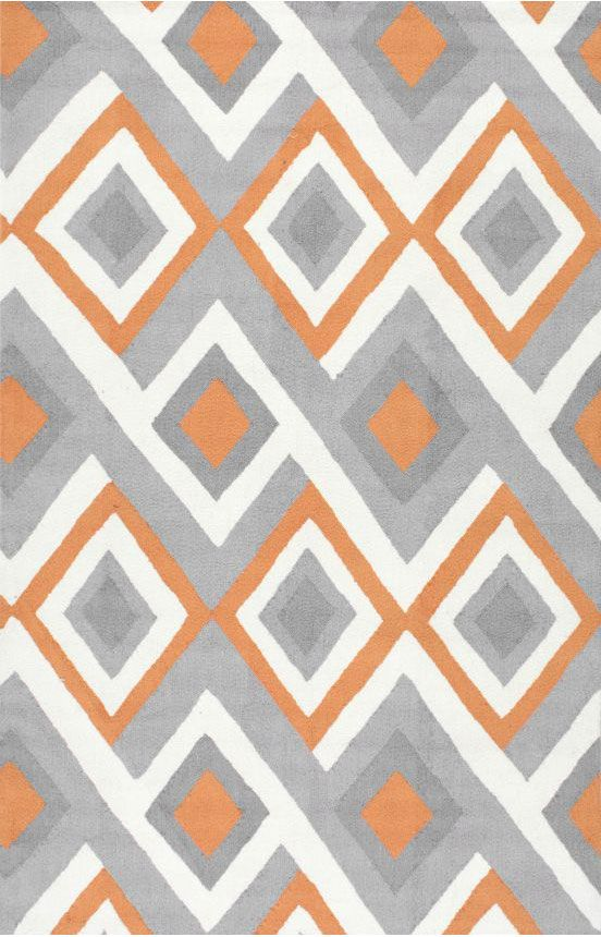 $5 Off when you share! Radiante BC62 Orange Rug | Contemporary Rugs #RugsUSA