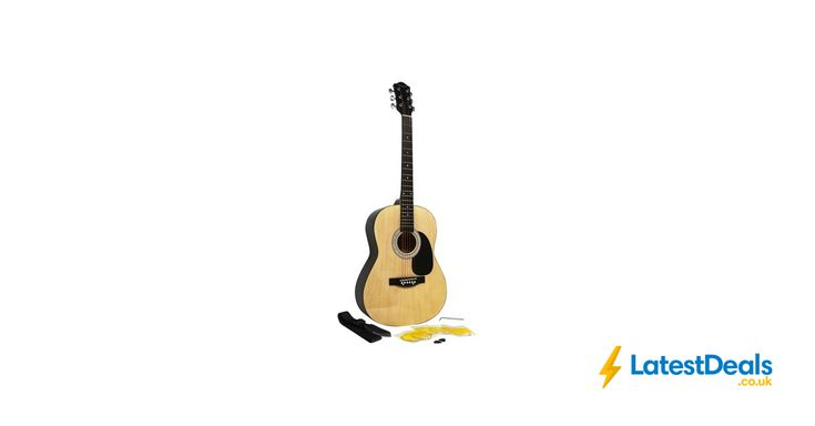 Martin Smith W-100 Acoustic Guitar Package with Strings, Plecs, Strap - Natural, £46.94 at Amazon UK
