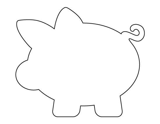 pig template for preschoolers - piggy bank pattern use the printable outline for crafts