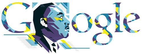 On Google.com, there is a special logo for Martin Luther King, Jr. today for the official holiday celebrated for his life.      Google's Doodle, as always...