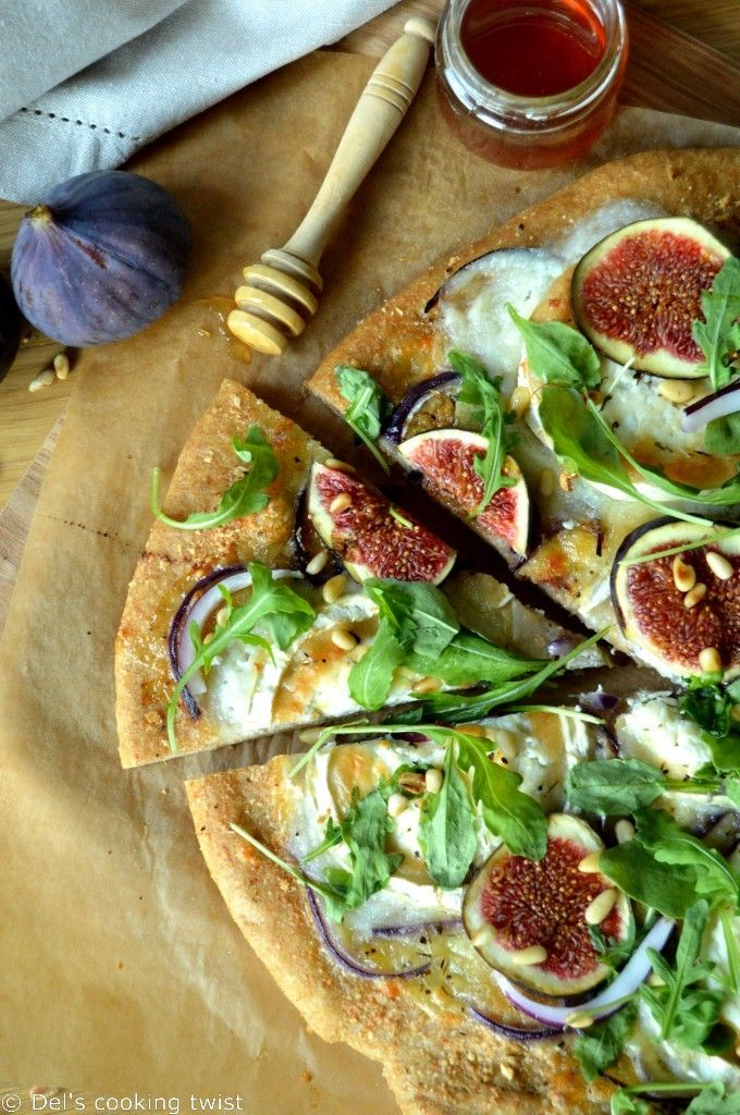 Fig & Goat Cheese Pizza with a Whole Wheat Crust   Del's cooking twist
