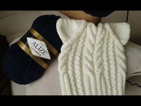 Шапка спицами. КотоШапка. Часть 2. // Knitting for kids // How to knit a hat…