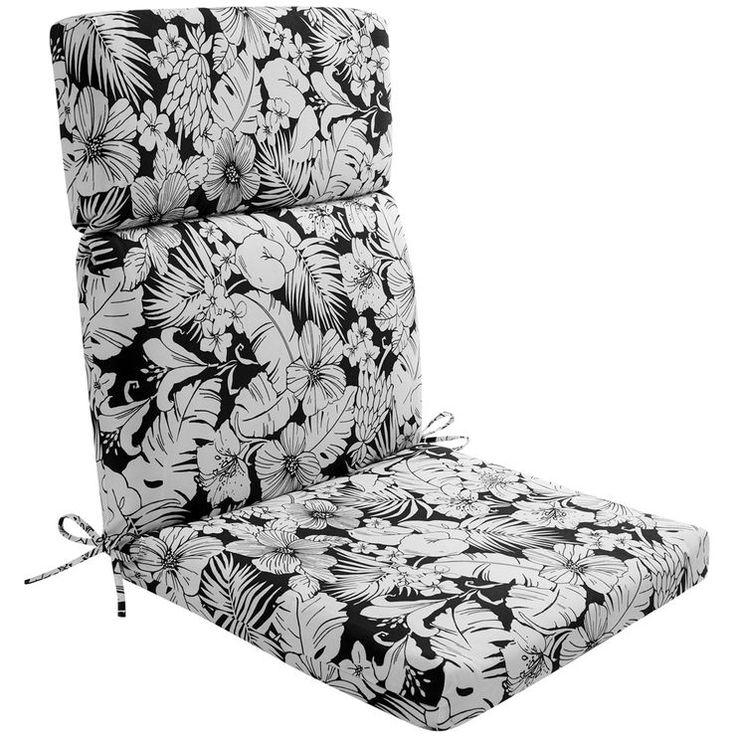 Bw floral hinged chair cushion patio cushions outdoor