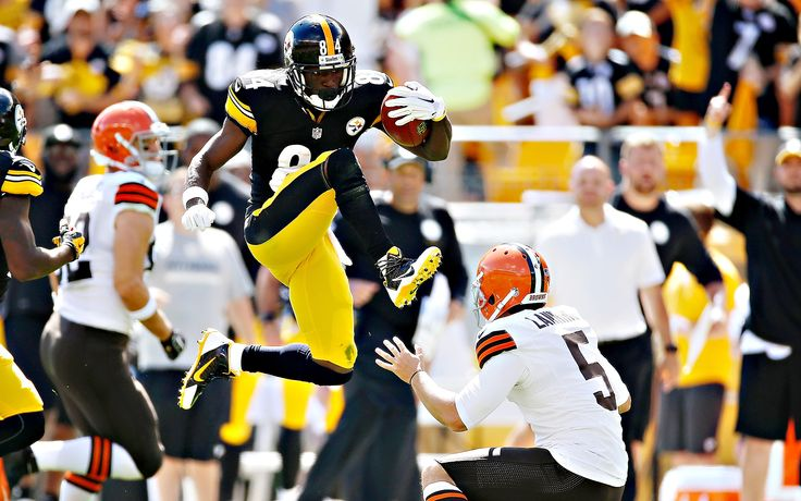 Pittsburgh's Antonio Brown attempted to go over Cleveland's Spencer Lanning on a long punt return, but unfortunately for both players, Brown couldn't clear the Browns' punter and wound up being penalized for kicking Lanning in the face.
