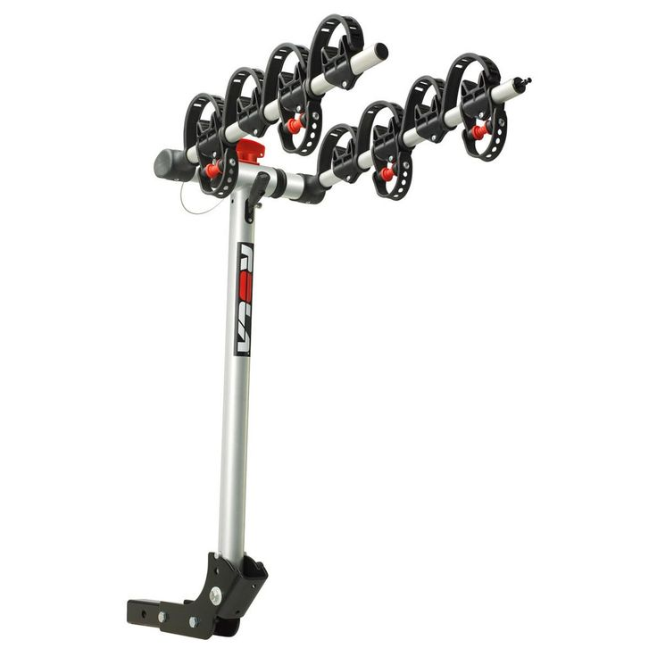 "Horizon Rola®, TX-104 Bike Carrier, 4 Bike, 2"" Sq. Receiver Mount, Folding Dual Arm Rail Rack w/Tilt Function, w/Retractable Cable Lock"
