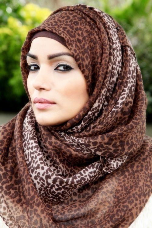 Leopard Printed Hijab Fall/Winter 2013 Trends