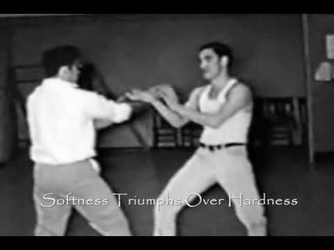 A compilation of videos including Ip Man, Ip Ching, Ip Chung, Bruce Lee, and Samuel Kwok. all descendents of Ip Man Wing Chun.